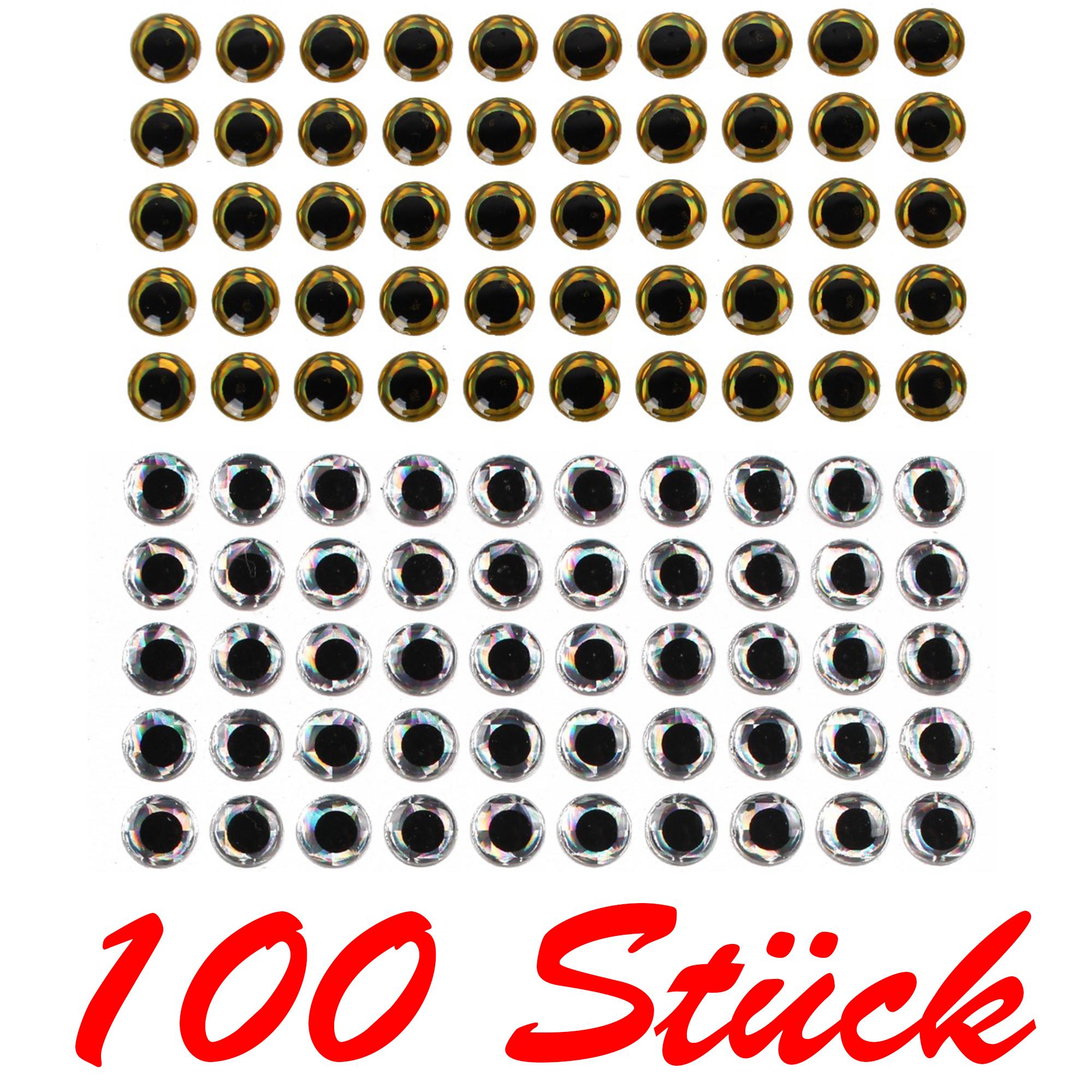 100 Stück Fisch Köder Augen für das Fliegenbinden Köder Herstellen